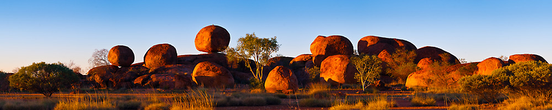 Devil's Marbles Panorama by Dieter Tracey