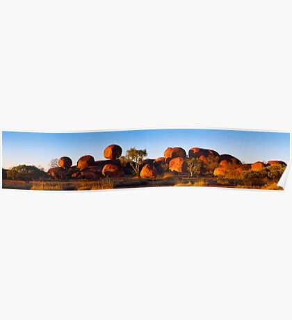 Devil's Marbles Panorama Poster
