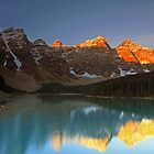 Moraine Lake Sunrise by Michael Collier