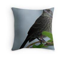 Bird on a vine, part III Throw Pillow