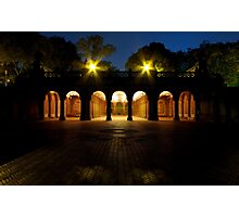 Bethesda Terrace Arcade, Central Park, New York Photographic Print