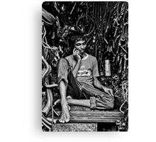 Life in a Machine Cubicle Canvas Print