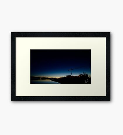 Small Town Sunset Framed Print