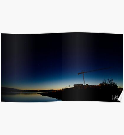 Small Town Sunset Poster