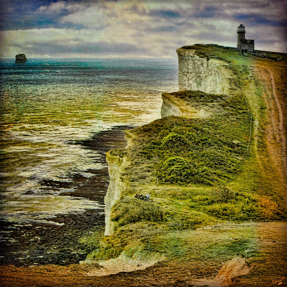 Lovers On The Cliff Top Path by Chris Lord