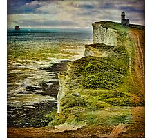 Lovers On The Cliff Top Path Photographic Print