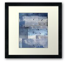 Abstract Composition With Clouds and Birds – September 8, 2011 Framed Print