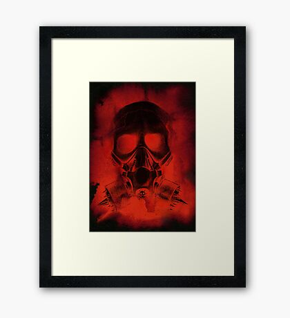 Blood And Bone in Black Framed Print