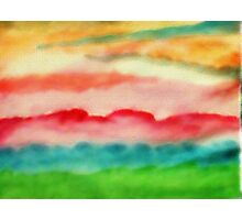 Abstract, while the power was out,,,watercolor Photographic Print