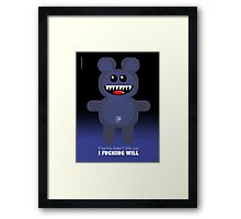 BEAR KARMA Framed Print