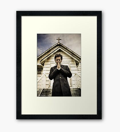 Baltar Repents [Preacher] James Callis Framed Print