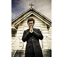 Baltar Repents [Preacher] James Callis Photographic Print