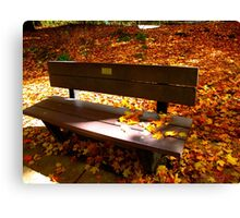 Benches in time Canvas Print
