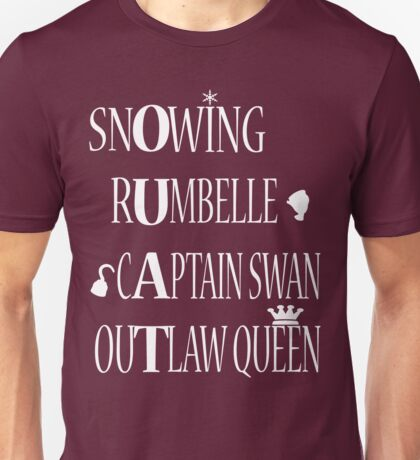 OUAT Ships (White Text) Unisex T-Shirt