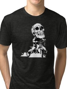 BigHeadSkullKid Tri-blend T-Shirt