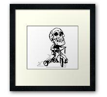 BigHeadSkullKid Framed Print