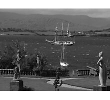 bantry bay in,blustery black and white Photographic Print