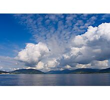 Beautiful Bute Sky Scape Photographic Print