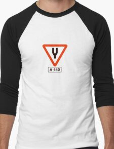 Tuning Fork - Music Tee Men's Baseball ¾ T-Shirt