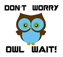 Don't Worry. Owl Wait! Photographic Print