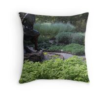 Front of Reader Throw Pillow