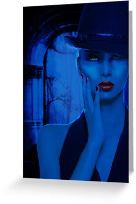 Portrait in Blue by viennablue