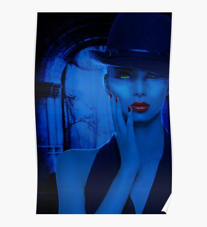 Portrait in Blue Poster