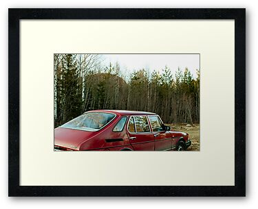 An Old Saab in the Woods by Bjarte Edvardsen