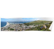 Portland Panorama and Chesil Beach Poster