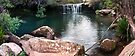 Waterfall Heaven Panorama by Dave  Gosling Designs