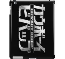 Cowboy Bebop Watercolor Logo White on Black iPad Case/Skin