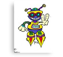 Too Cute Robot Peace Canvas Print