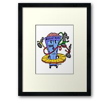 Too Cute IBM Deep Blue with Chess Pieces Framed Print