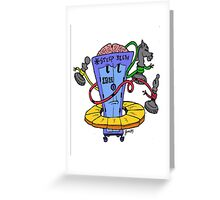 Too Cute IBM Deep Blue with Chess Pieces Greeting Card