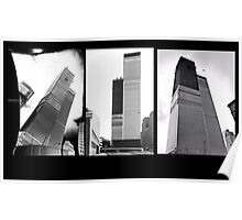 World Trade Center Triptych 1971 Poster