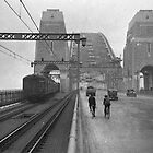 First cars and trains across Sydney Harbour Bridge, March 1932 by madewithslnsw