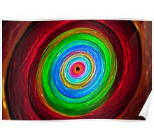 Rabbit hole - colorful light painting physiogram Poster