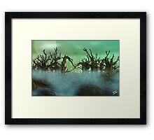 Twisty Forest Framed Print