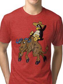 Bronco Tux Gnu Tri-blend T-Shirt