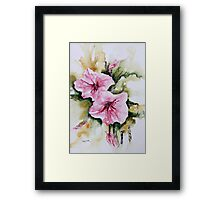 Holly Hock Series 3 Framed Print