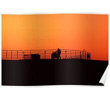 Sunset On The Cow Pen Poster