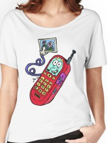 Too Cute Cell Phone Tee Women's Relaxed Fit T-Shirt