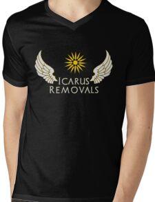 Icarus Removals (dark) Mens V-Neck T-Shirt