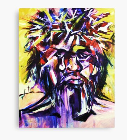 Black Christ Canvas Print