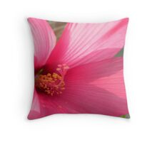Pink Petunia Macro Throw Pillow