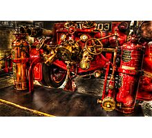 Vintage Fire Engine Photographic Print