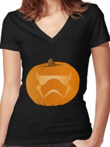 Spook-Trooper Women's Fitted V-Neck T-Shirt