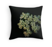 White Fractal Renaissance Throw Pillow