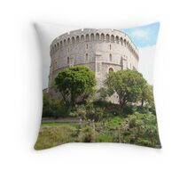 Castle on a Hill Throw Pillow