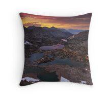 Bishop Pass Sunset Throw Pillow